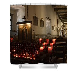 Interior Old Mission Shower Curtain by Bob Christopher