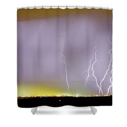 Into The Colorful Night Shower Curtain by James BO  Insogna