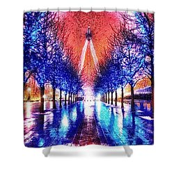 Into The Eye Shower Curtain by Mo T