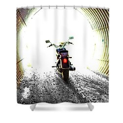 Shower Curtain featuring the photograph Into The Light by Blair Stuart