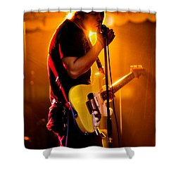 Into The Mic Shower Curtain by Christopher Holmes