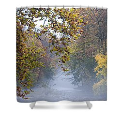 Into The Mist Shower Curtain by Bill Cannon