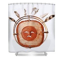 Inuit Moon Mask Shower Curtain by Photo Researchers