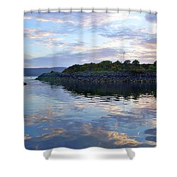 Shower Curtain featuring the photograph Inverkip Marina by Lynn Bolt