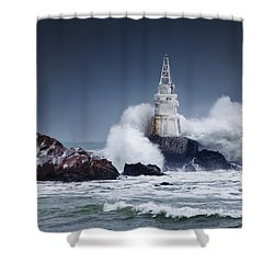 Invincible Shower Curtain by Evgeni Dinev