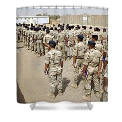 Iraqi Air Force College Cadets March Shower Curtain by Stocktrek Images