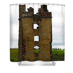 Ireland- Castle Ruins II Shower Curtain