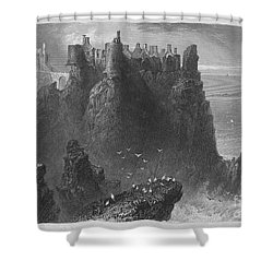 Ireland: Dunluce Castle Shower Curtain by Granger