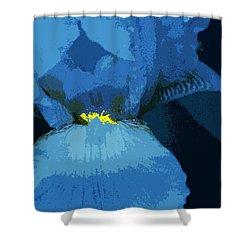Iris Cutout Shower Curtain