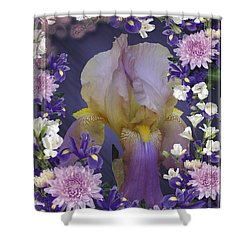 Iris Within Shower Curtain by Rick Friedle