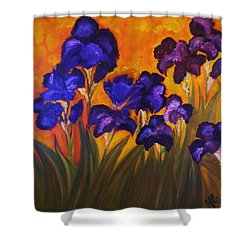 Irises In Motion Shower Curtain