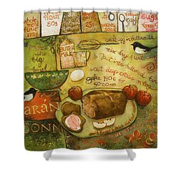 Irish Brown Bread Shower Curtain by Jen Norton