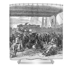 Irish Emigration Shower Curtain by Granger