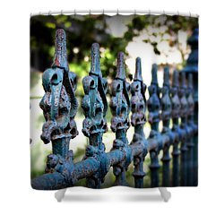 Iron Fence Shower Curtain by Perry Webster