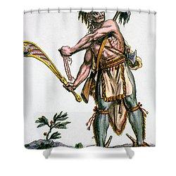 Iroquois Warrior Shower Curtain by Granger