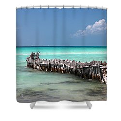 Shower Curtain featuring the photograph Isla Mujeres by Milena Boeva