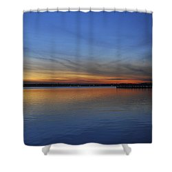 Island Heights At Dusk Shower Curtain by Terry DeLuco