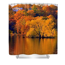 Island  In Fall Shower Curtain