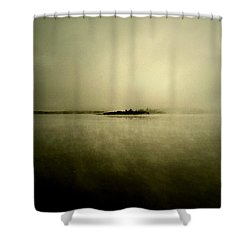 Island Of Mystic  Shower Curtain by Jerry Cordeiro