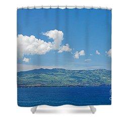 Island On The Horizon Shower Curtain by Gaspar Avila