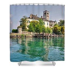 Island San Giulio Shower Curtain