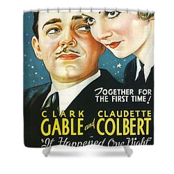 It Happened One Night Shower Curtain by Georgia Fowler