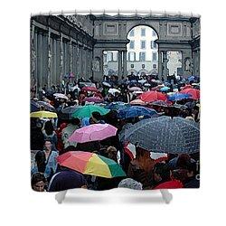 It Rains Shower Curtain by Vivian Christopher