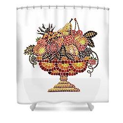 Italian Mosaic Vase With Fruits Shower Curtain by Irina Sztukowski