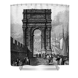 Italy: Ancona, 1833 Shower Curtain by Granger