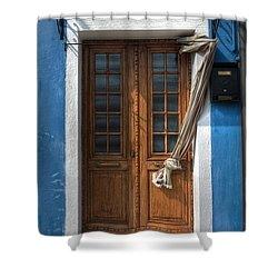 Italy Old Door Shower Curtain by Joana Kruse