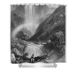 Italy: Waterfall, 1833 Shower Curtain by Granger