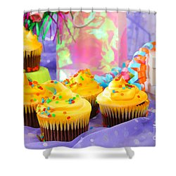It's A Party Shower Curtain by Darren Fisher