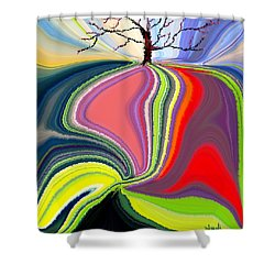 Its A Tree's Life Shower Curtain by Renate Nadi Wesley