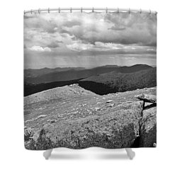 Shower Curtain featuring the photograph It's Raining In The Distance by David Pantuso