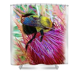 I've Fallen Into A Thistle And I Can't Get Out Shower Curtain by Judi Bagwell