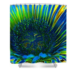 I've Got The Blues Shower Curtain by Mariola Bitner