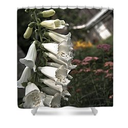 Ivory Foxglove Shower Curtain