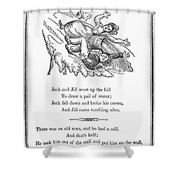 Jack And Jill, 1833 Shower Curtain by Granger
