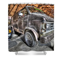 Jack Black's School Of Rock Van Shower Curtain by Nicholas  Grunas