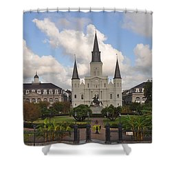 Jackson Square New Orleans Shower Curtain by Bill Cannon