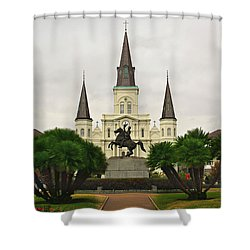 Jackson Square Shower Curtain by Perry Webster