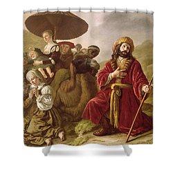 Jacob Seeking Forgiveness Of Esau Shower Curtain by Jan Victoors