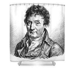 Jacques Charles, French Balloonist Shower Curtain by Photo Researchers