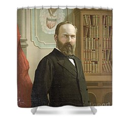 James A. Garfield, 20th American Shower Curtain by Photo Researchers