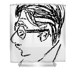 James Grover Thurber Shower Curtain by Granger