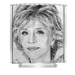 Jane Fonda In 2005 Shower Curtain by J McCombie