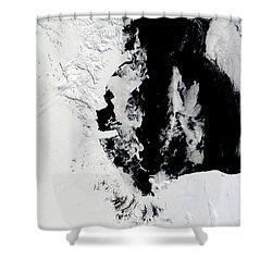 January 18, 2010 - Ross Sea, Antarctica Shower Curtain by Stocktrek Images