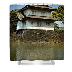 Japan Castle Shower Curtain