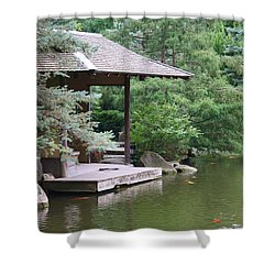 Japanese Tea House Shower Curtain by Bruce Bley