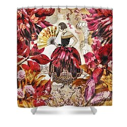Jardin Des Papillons Shower Curtain by Mo T